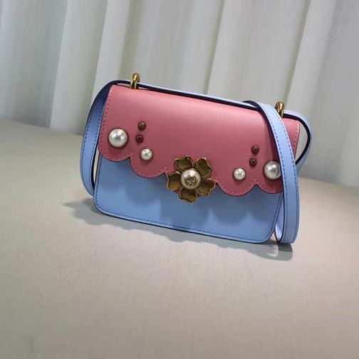 GG 16 NEW Pearl 432682 Pink Blue Women Shoulder Bags