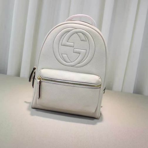 GG 2016 NEW 431570 White g Soho Chain Women Backpack Bags
