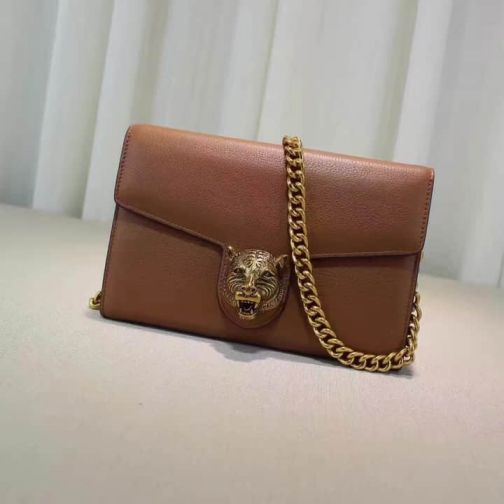 GG NEW Chain Bronze 414984 Brown Women Shoulder Bags