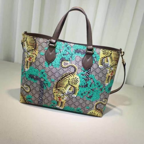 GG 16 NEW Tote 453705 Green Women Shopping Bags