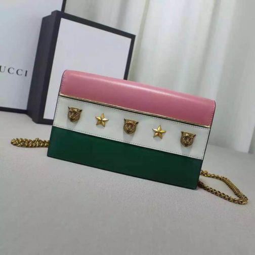GG 16 NEW 421843 Pink White Green Women Shoulder Bags