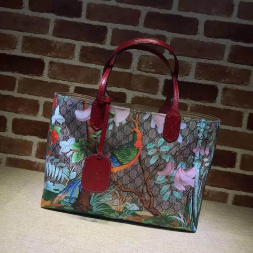 GG 16 SS NEW 412096 Red Women Shopping Bags
