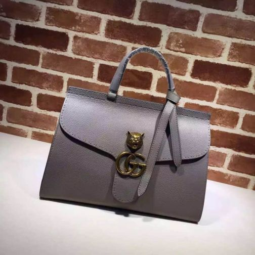 GG 15NEW Tote Cat Head Vintage 409155 Grey Women Clutch Bags