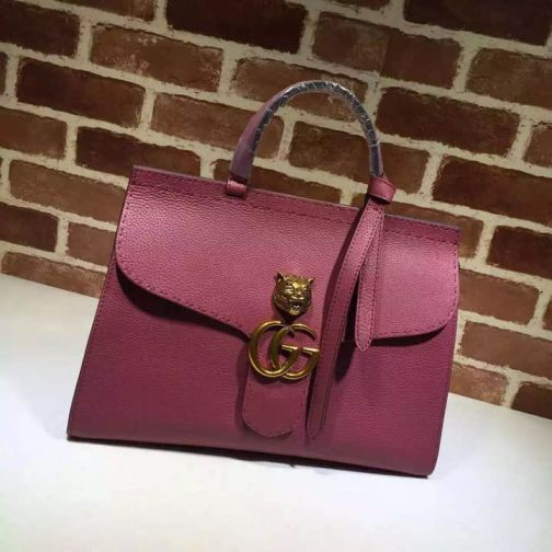 GG 15NEW Tote Cat Head Vintage 409155 Rose Red Women Clutch Bags