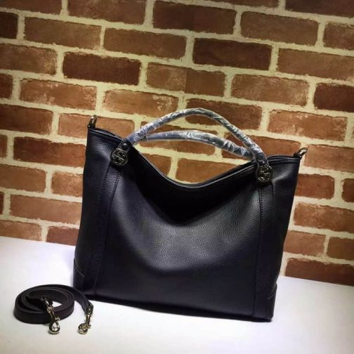 GG NEW Medium Tote Classic 323675 Black Women Clutch Bags