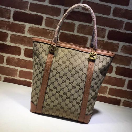 GG Bronze 342591 Brown Women Shopping Bags