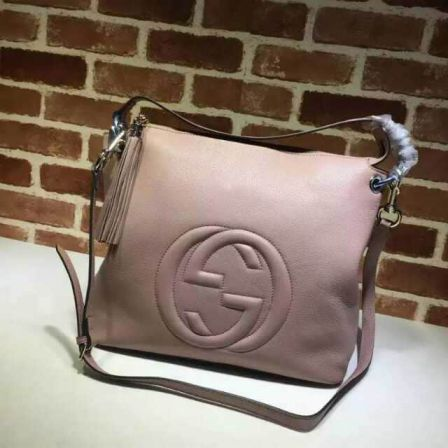 GG 15FW Leather soho Large 408825 Pink Women Shoulder Bags