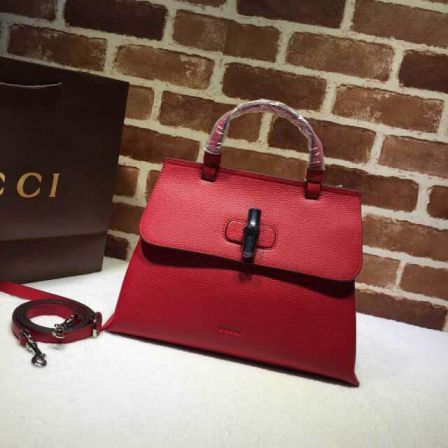 GG 15 SS Medium Tote 392013 Red Women Clutch Bags