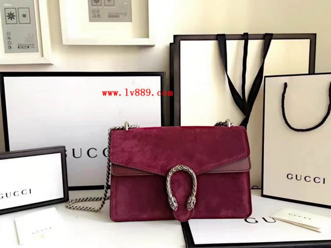 GG 401231 Leather Chain Crossbody Women Shoulder Bags