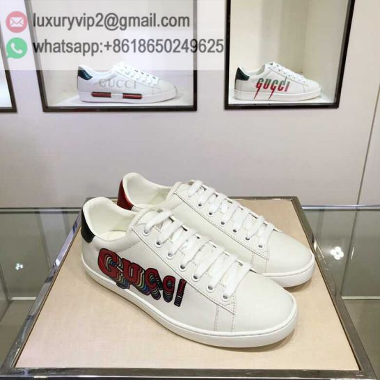 GG White Ace Classic LOW Unisex Sneakers