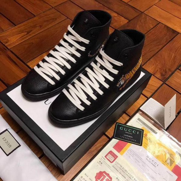 GG Men High Leather Shoes