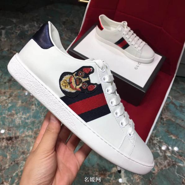 GG Ace Embroidery Sneakers 501908 Women Shoes