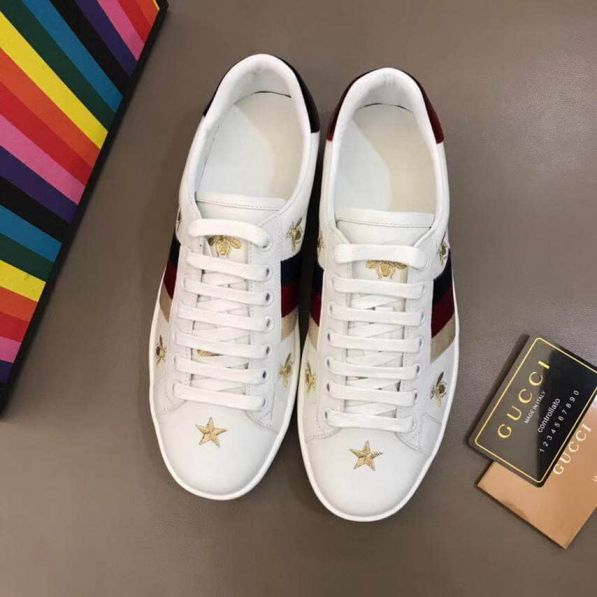GG 2018 Leather Causal Unisex Shoes