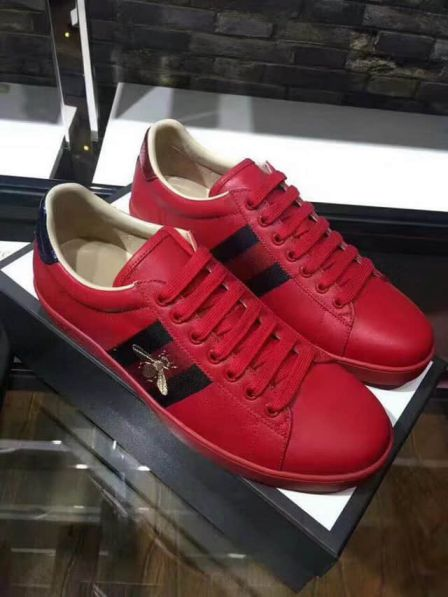 GG 2018SS Men Causal Leather Shoes