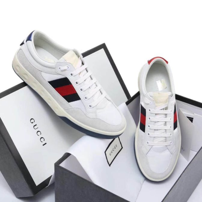 GG Leather Sneakers Men Shoes