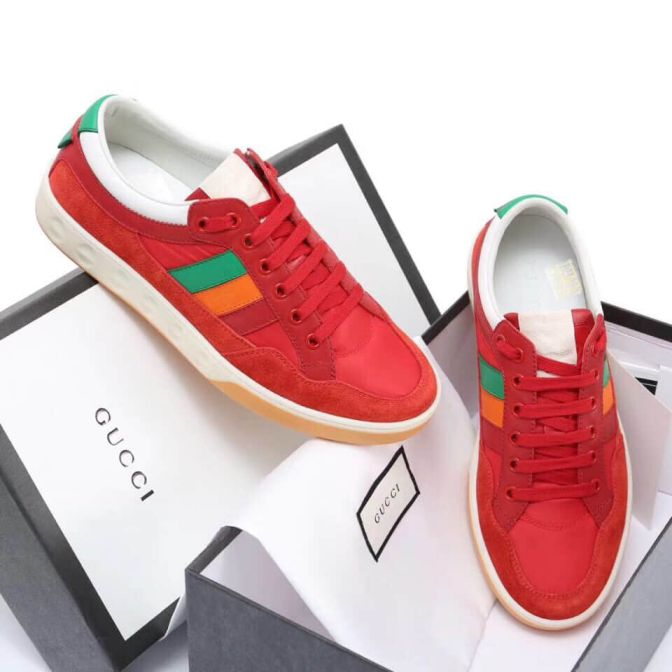 GG 2018 Leather Sneakers Men Shoes