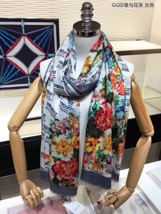 GG 2018 GG 100% Cashmere Women Scarves