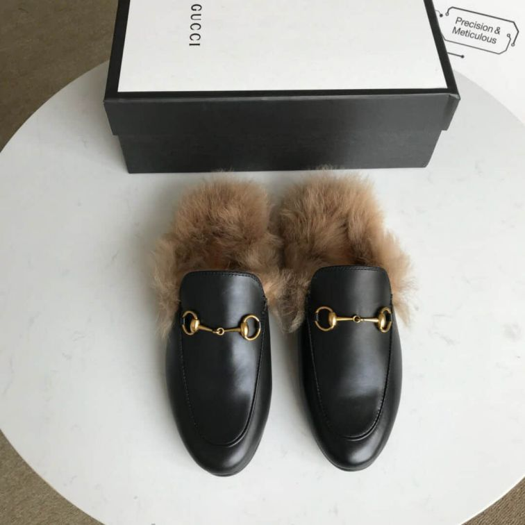 GG 2018 Women Leather Slippers