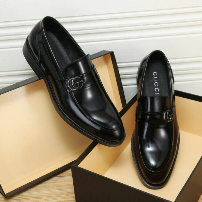 GG 2018 Men Leather Shoes