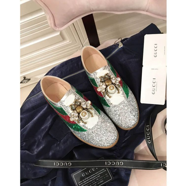 GG 2018 Falacer Patent Leather Unisex Sneakers