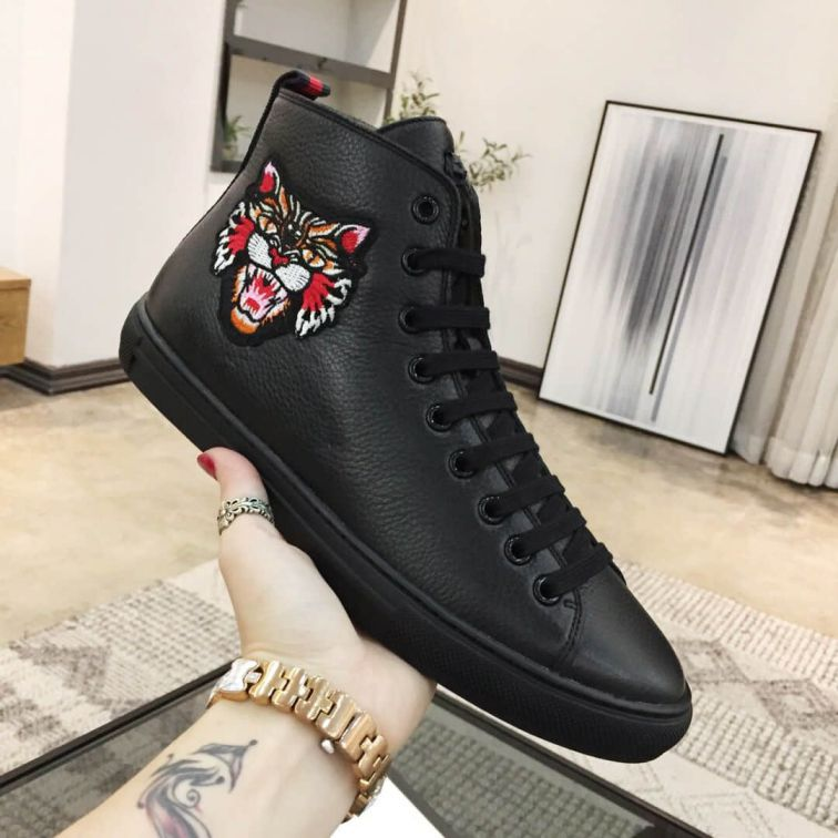 GG 2018SS Soft Men Causal Leather Shoes