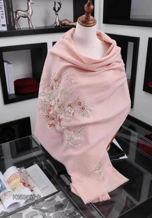 GG 2018 Embroidery Women Scarves