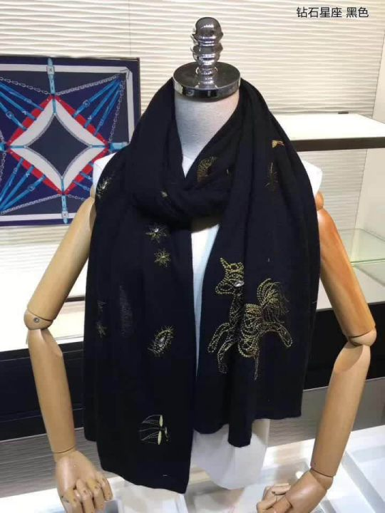 GG 100% Cashmere Knit Women Scarves