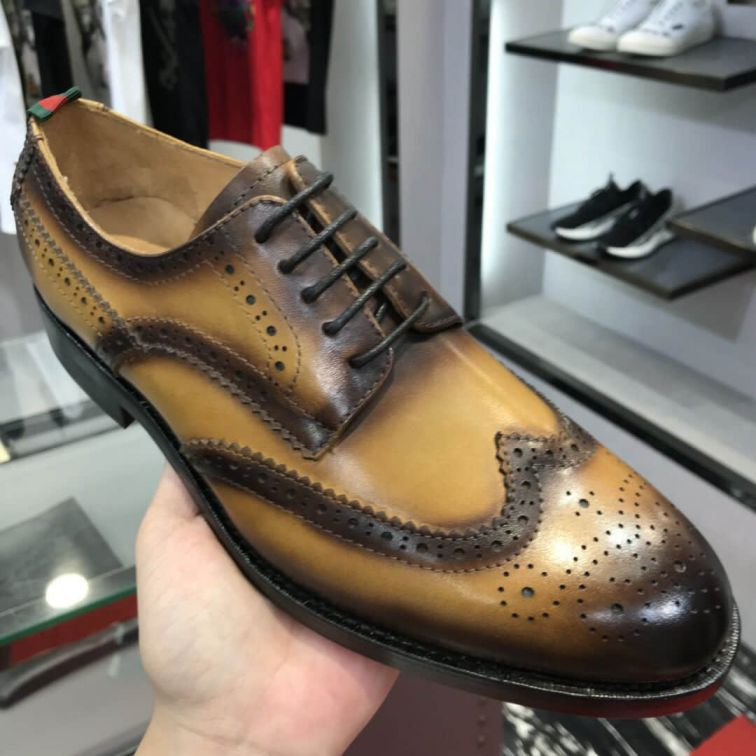 GG Men Leather Shoes