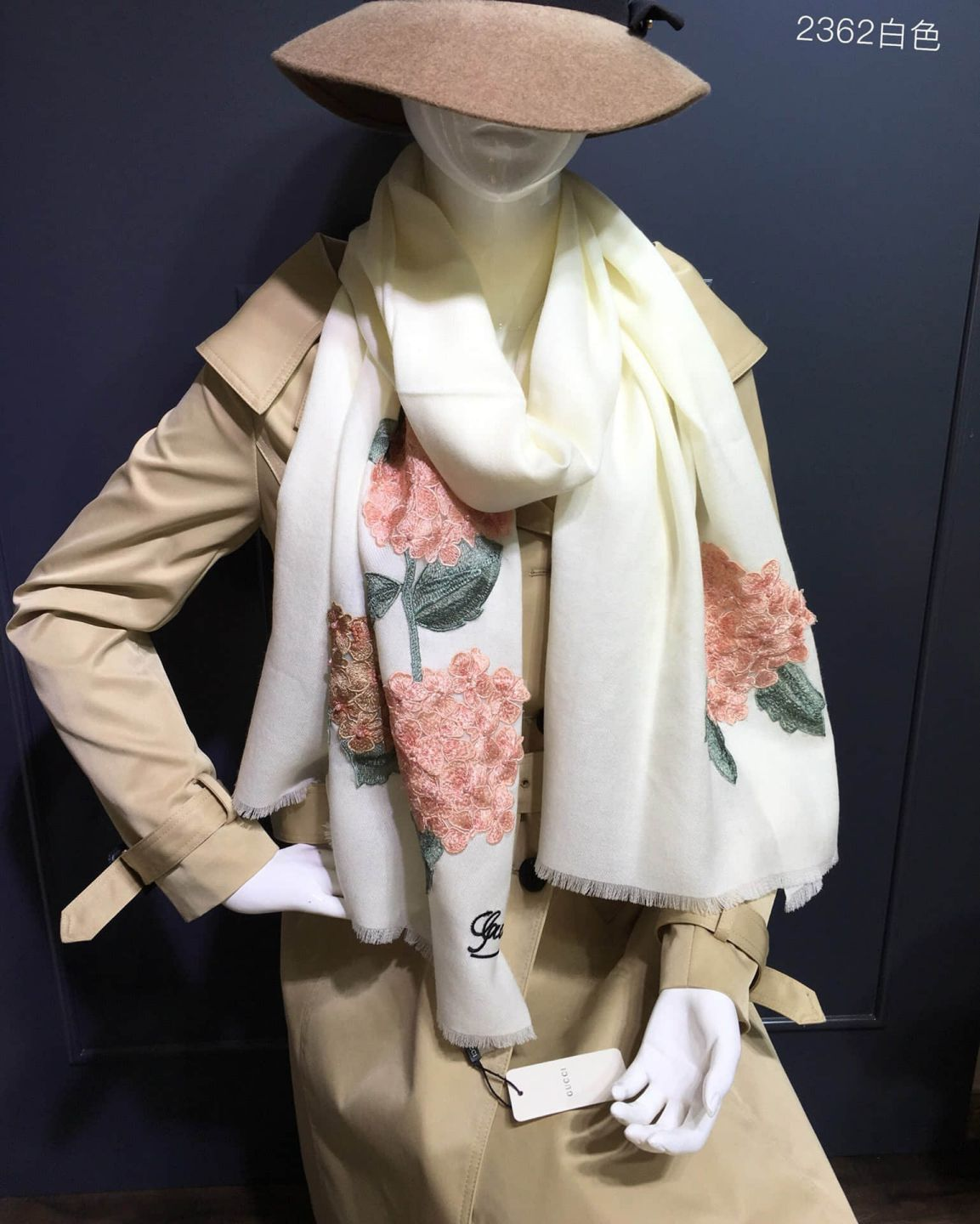 GG Embroidery Cashmere Women Scarves