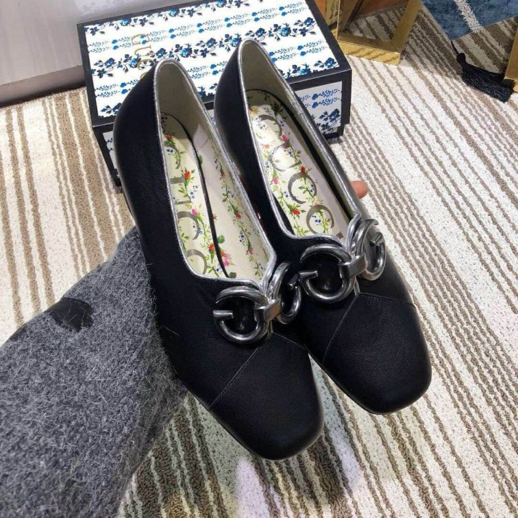 GG Soft Leather High Women Shoes