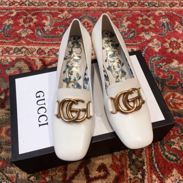 GG 2018FW Leather GG High Women Shoes