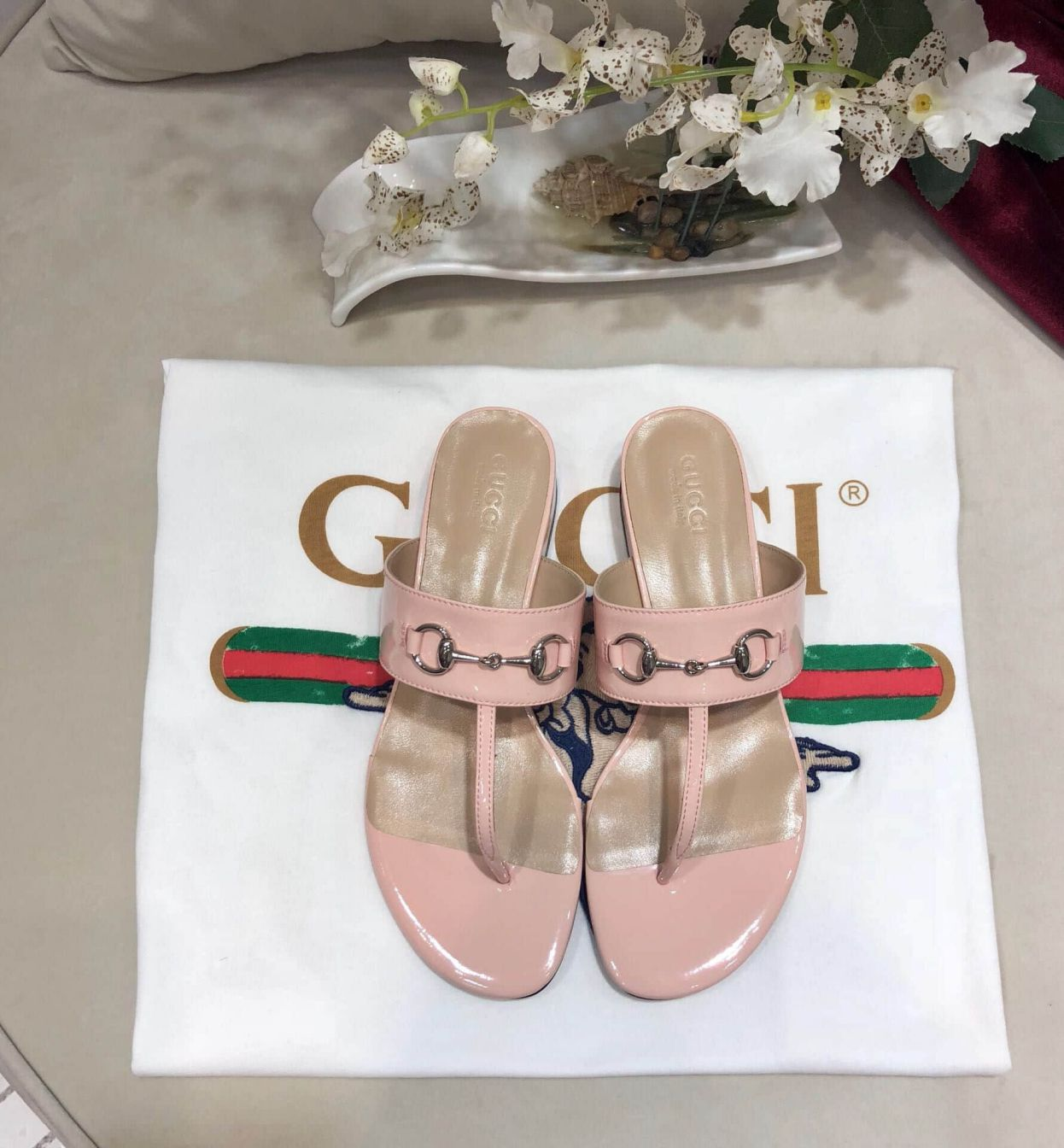 GG Soft Women Leather Sandals