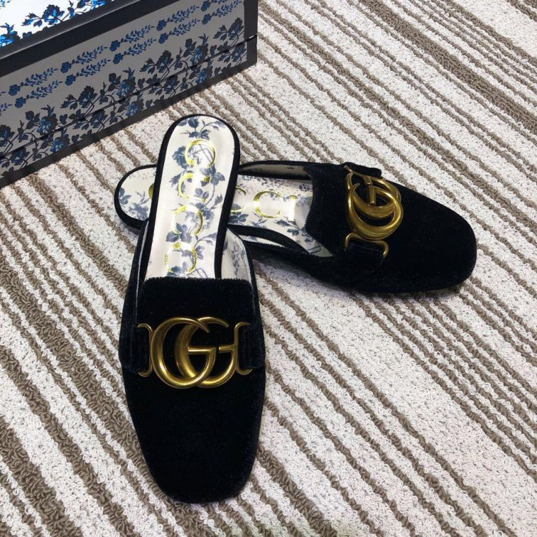 GG 2019SS Leather GG Women Slippers