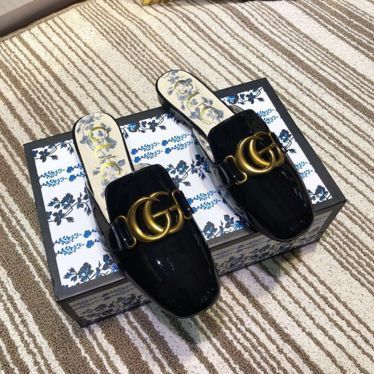 GG 2019SS Leather Patent LeatherGG Women Slippers