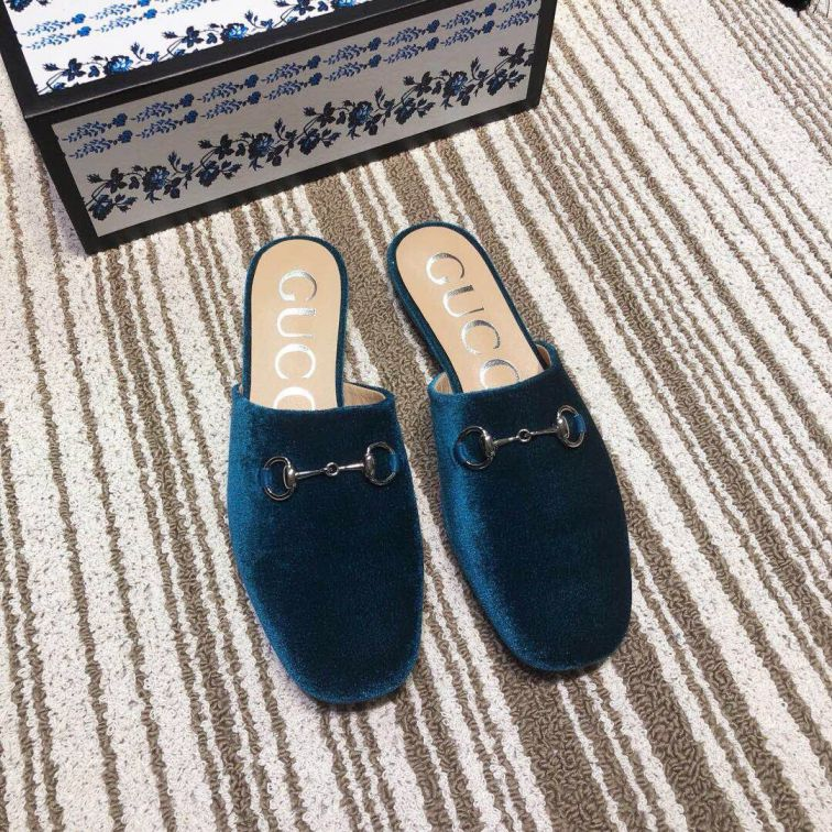 GG 2019SS Leather Soft Women Leather Slippers
