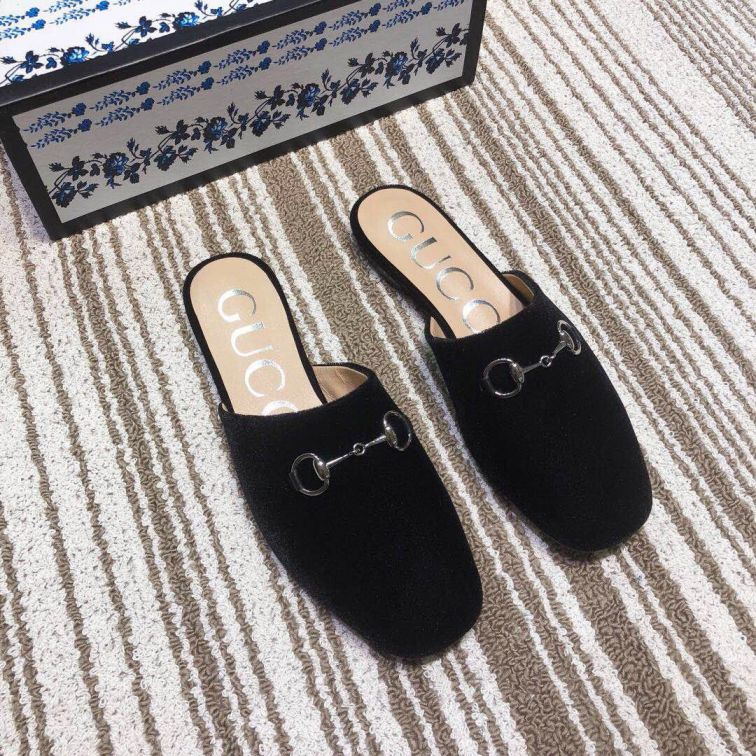 GG 2019SS Leather Patent Women Leather Slippers