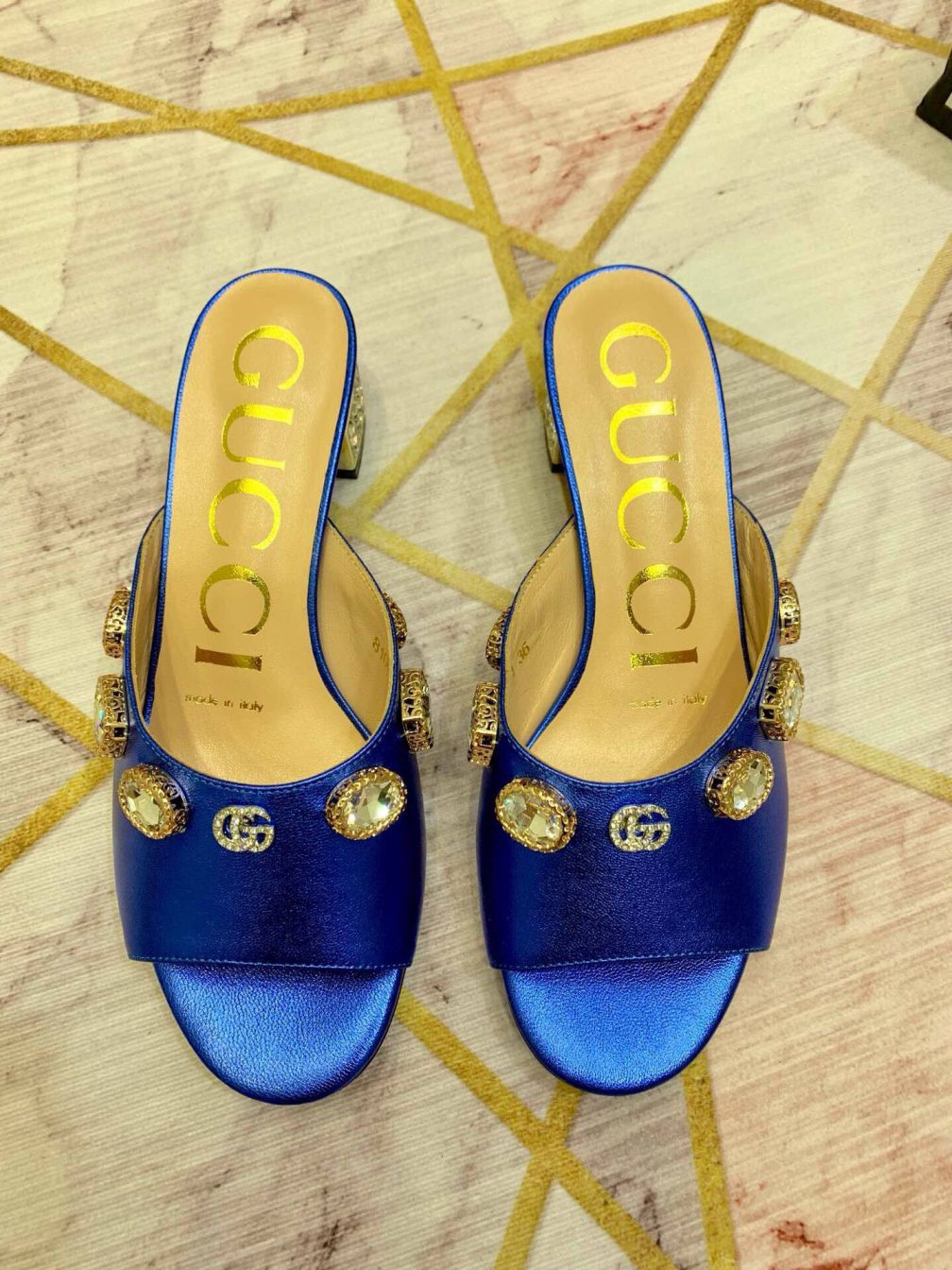GG Soft Women Leather Slippers