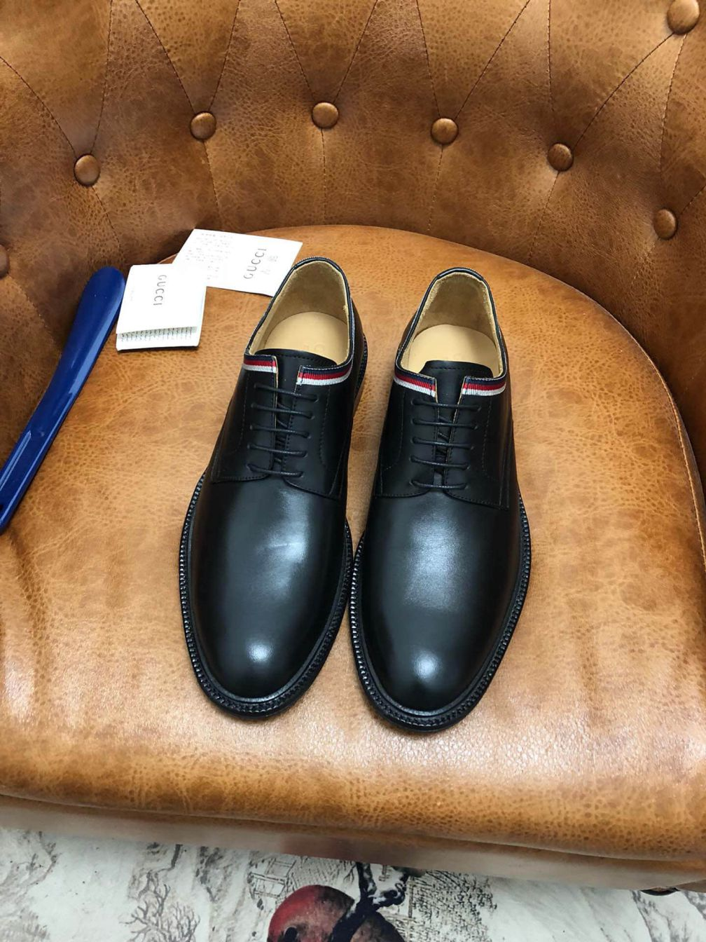 GG 2019 Men Leather Shoes