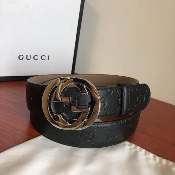 GG Signature GG Leather 38mm Men Belts