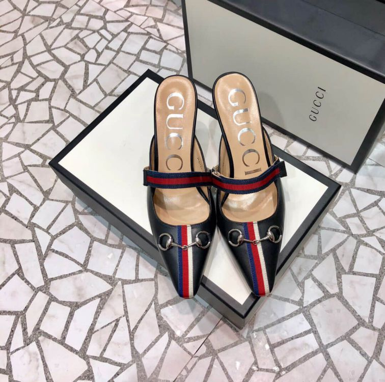 GG 2019SS Soft Leather High Women Shoes