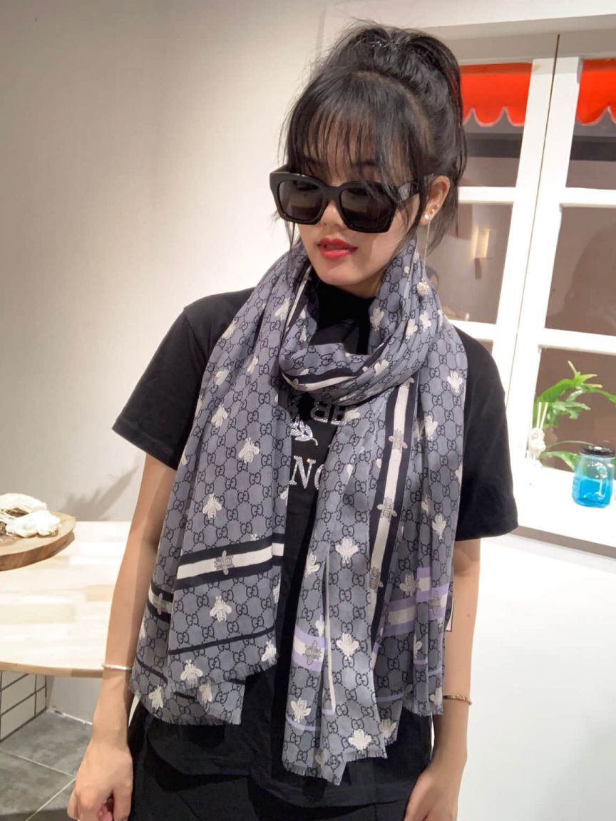 GG 100% Cashmere Classic Women Scarves