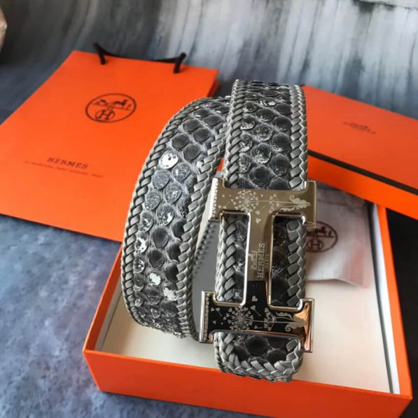 Hermes Leather Men Belts