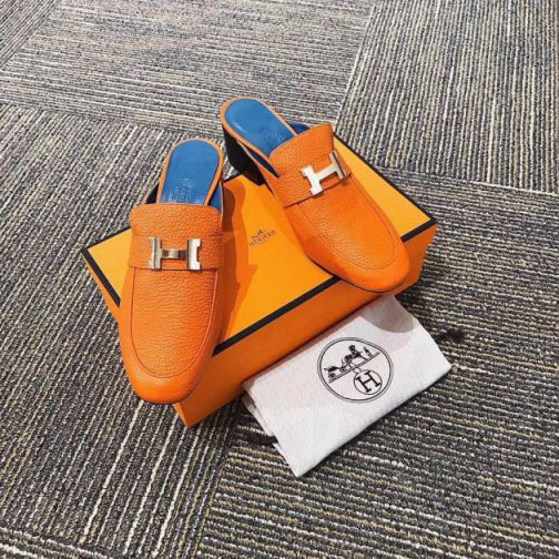 Hermes 2018 Leather Mule Women Shoes