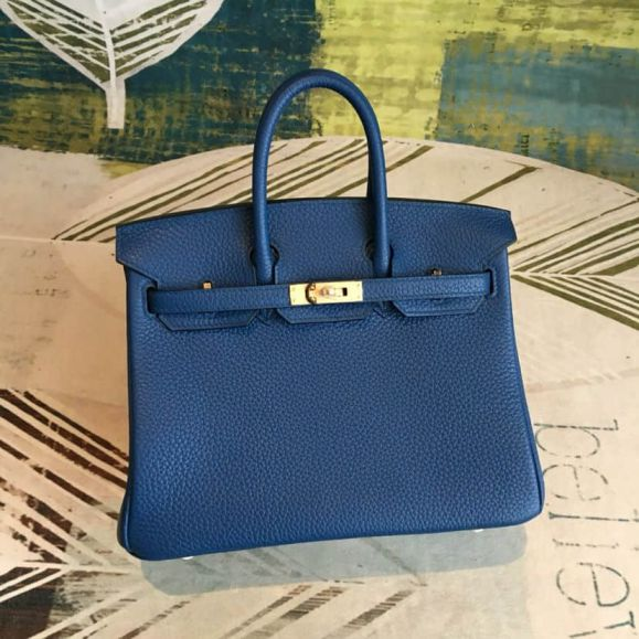 Hermes Birkin 25cm togo Leather Women Tote Bags