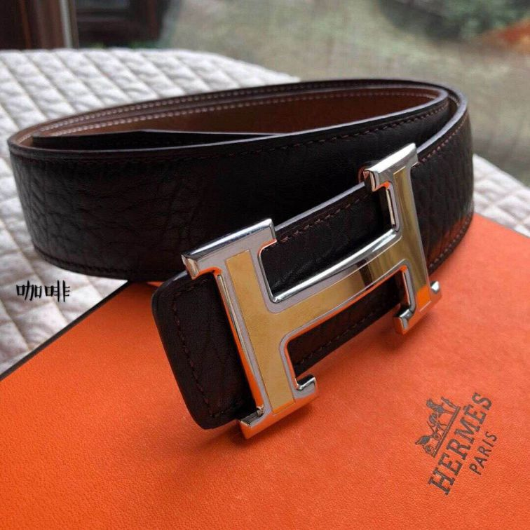 Hermes Leather 38mm Men Belts