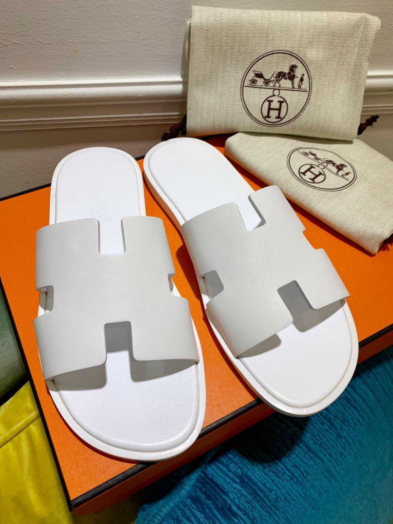 Hermes Leather Slippers swift Men Shoes