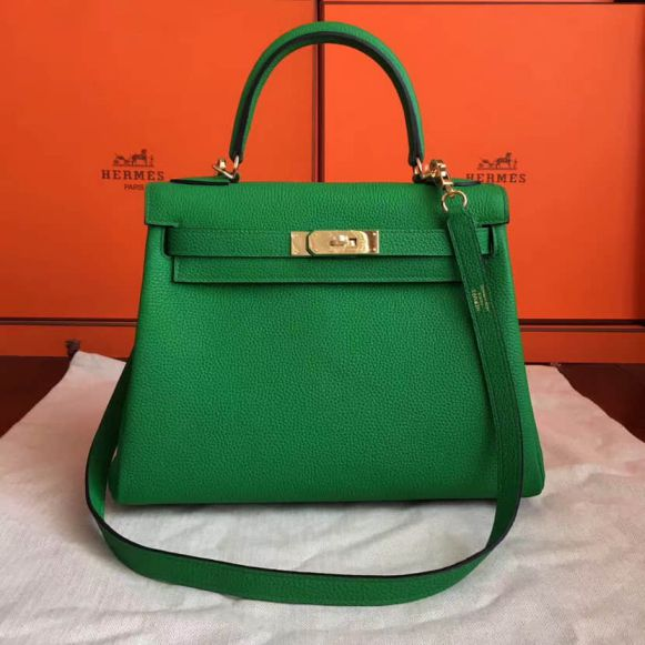 Hermes Leather Kelly 28CM Women Tote Bags