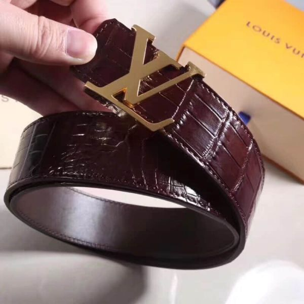 2018 LV Crocodile Men Belts