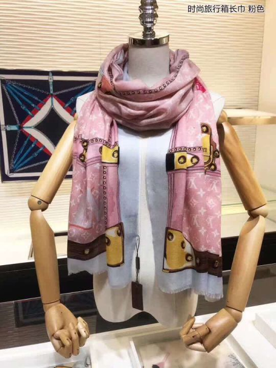 2018 LV Monogram Cashmere Square Women Scarves