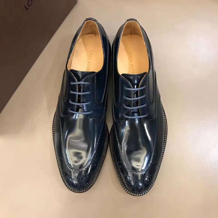 2018 LV Men Leather Shoes